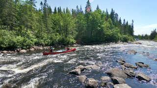 Voyage en canoë au Canada, Québec