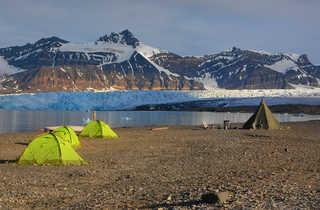 Camp au glacier Svéa, Svalbard