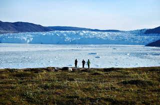 Face au glacier, Groenland