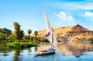 Bateau felouque sur le Nil