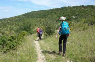 randonnée, Massif Central, chemin Saint Guilem sud