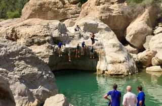 Plongeon wadi, Oman
