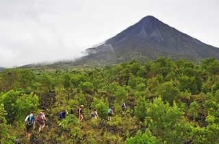 randonnée au pied du volcan Arenal