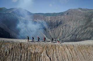 Randonnée sur le volcan Bromo en Indonésie