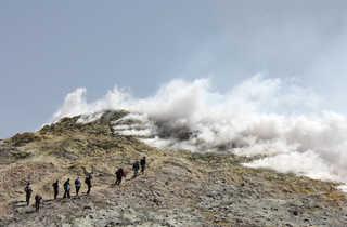 Randonneurs sur l'Etna