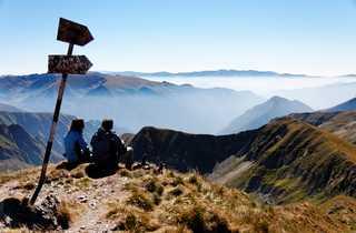 Roumanie, Carpates roumaines, Monts fagaras, Sommet Moldoveanu
