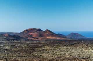 Volcan lors d'une randonnée sur Lanzarote