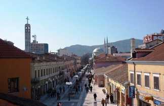 Albanie, le centre ville de Shkodra