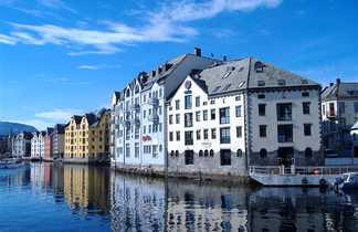 Alesund et architecture de style art nouveau