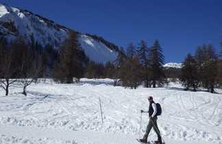 randonnée, raquettes, alpes, écrin
