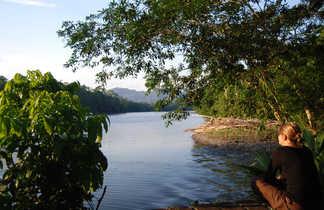 Ambiance de fin de journée en Amazonie