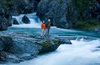 Au bord d'une rivière dans le parc national du Jotunheimen