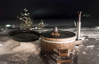 Bain norvégien en hiver, Laponie