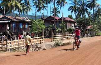 Balade à vélo au Cambodge