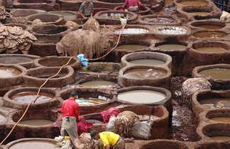 Bassins des tanneurs, Fes, Maroc