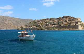 Bateau vers Spinalonga Crète
