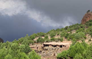 Bergerie, Haut Atlas Central, Maroc