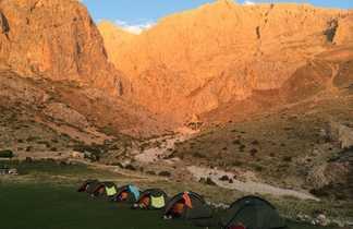 Bivouac dans les montagnes du Taurus en Turquie