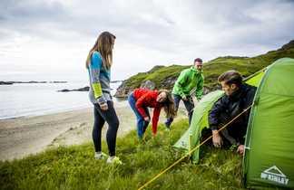 Camp en Norvège dans les îles Lofoten