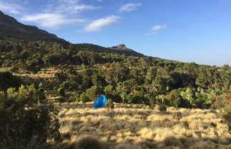 Camping dans le massif du Simien en Ethiopie