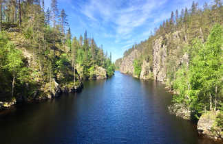 Canyon dans le parc national de Hossa en Finlande