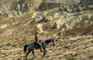 Cavalière en Cappadoce