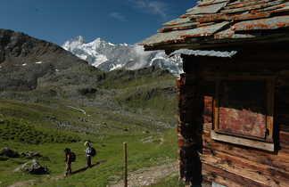 Chalet et alpage suisse