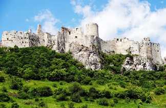 Château de Spiš : ruine d'un château fortifié du XII-ième siècle