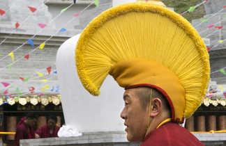 Coiffe de moine tibétain