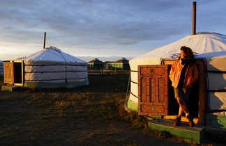 Contemplation de fin de journée en Mongolie @ S.Fautre