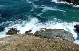 côte de belle île vue de haut