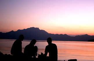 Coucher de soleil Musandam, Oman