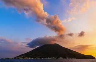 Coucher de soleil sur le Stromboli
