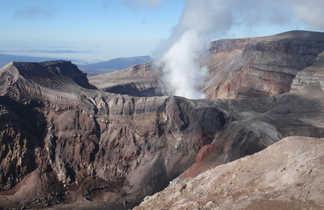 Cratère du volcan Gorely, Kamchatka