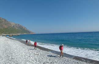 crete, randonnée entre Loutro et Agia Roumeli