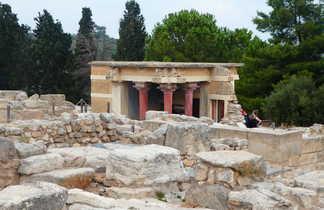 Crete, site minoeen de Knossos