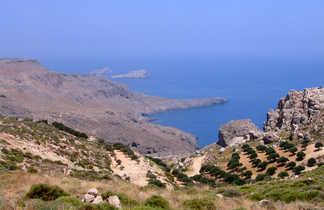 Crète vue mer des collines