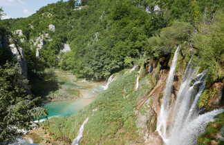 Croatie, cascade dans le Parc de Plitvice