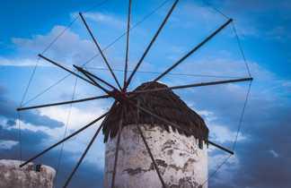 Cyclades, moulin sur l'île de Naxos