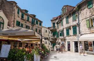 Dans les rues de Split, Croatie