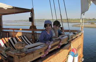 Egypte, Nil, Sandal