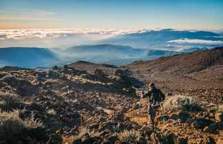 Descente du Piton de Neiges, île de la Réunion