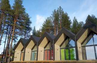 Ecolodge du camp Norwide en Finlande