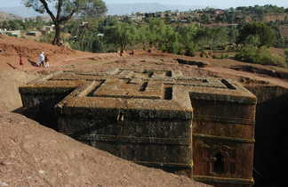 Eglise de Saint Georges à Lalibela en Ethiopie