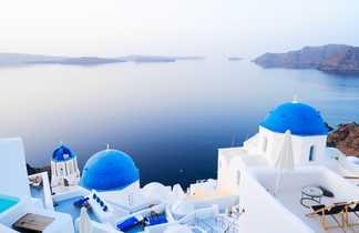 Eglises blanches et bleues, Île de Santorin, Grèce