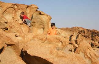 Enfants jouant en Namibie