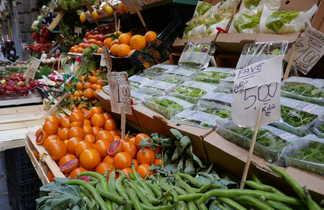 Étal de fruits et légumes à Naples