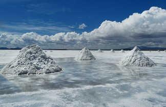 Extraction de sel sur le salar de Uyuni, Bolivie