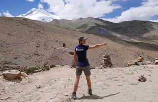 Fanny dans la vallée de la Markha, Ladakh