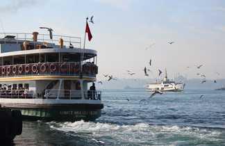 Ferry sur les quais d'Istanbul